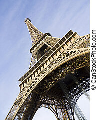 The Eiffel tower is one of the most recognizable landmarks in th