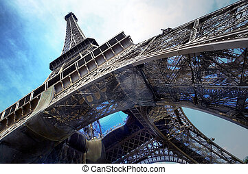 The Eiffel tower is one of the most recognizable landmarks