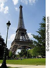 The Eiffel Tower Paris France.