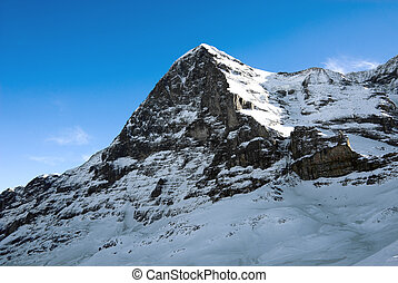 The Eiger - The north face of the Eiger, Grindelwald,...