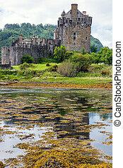 The Eilean Donan castle in Scotland