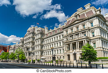 The Eisenhower Executive Office Building, a US government building in Washington, D.C.