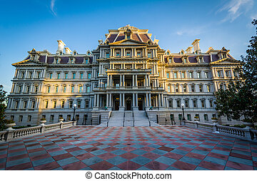 The Eisenhower Executive Office Building in Washington, DC.
