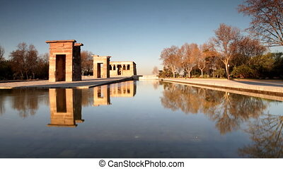 the el templo (temple of debod) monument in madrid
