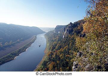 The Elbe downstream in Saxony