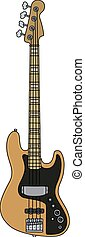 The electric bass guitar