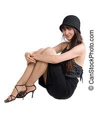 girl in a black