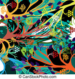 The elements of nature. Vector background.