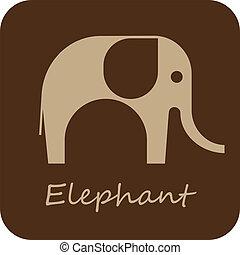 The Elephant - vector icon