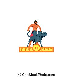 The eleventh feat of Heracles. Cerberus. - Branding Identity...