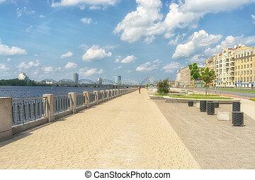 The embankment in Riga