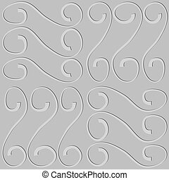 embossed pattern on seamless gray vector background