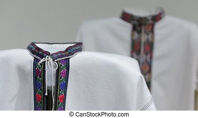 The Ukraine national embroidered clothes shirt