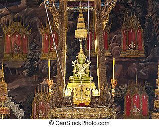 The Emerald Buddha in the temple