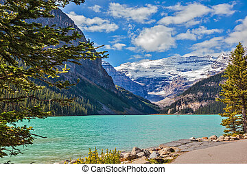 The emerald waters of the Lake Louise