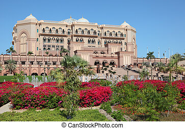 The Emirates Palace in Abu Dhabi, United Arab Emirates