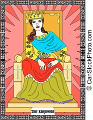 the empress card - the illustration - card for tarot - the...