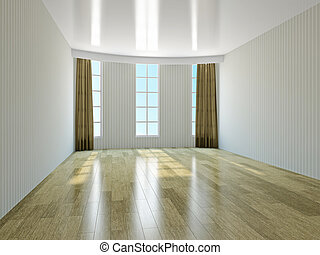 The empty room with windows