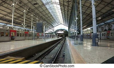The Empty Rossio Railway Station - The Rossio Railway...