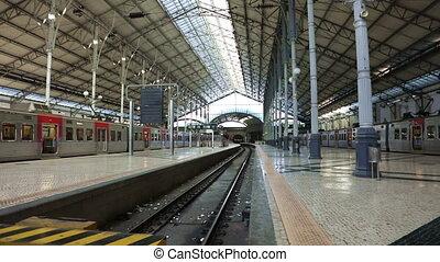 The Empty Rossio Railway Station - The Rossio Railway...