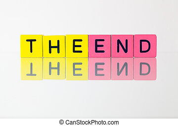 The End - an inscription from children's blocks