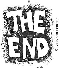 The End. Hand drawn. Vector eps8