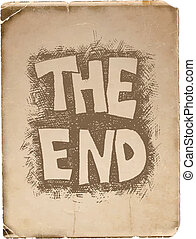 The End. Hand drawn.  Vector design. Eps8