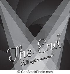 the end label over black background vector illustration