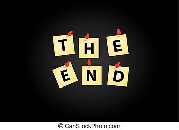 The End Screen Design Template Vector Illustration