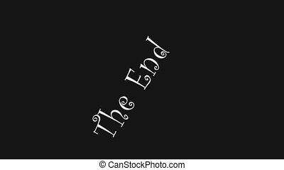 The end sign animated motion clip outro abstract