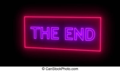 THE END Sign in Neon Style