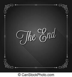 the end sign movie ending frame