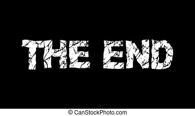 The end text hand drawn animation