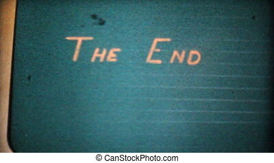 The End Title-1963 Vintage 8mm film