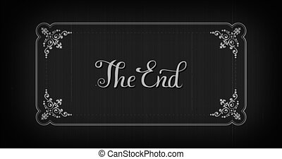 The end typography old movie animation title screen. - The ...