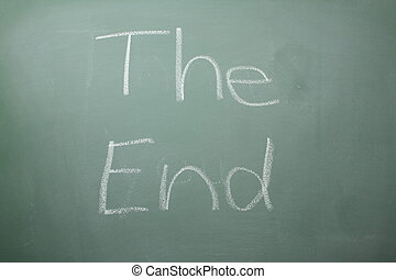 The End written on a blackboard