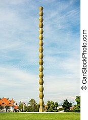 The Endless Column (Column of Infinite) made by Constantin...