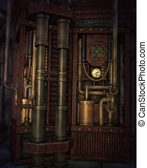 The Engine, 3d CG - 3d computer graphics of an interior of...