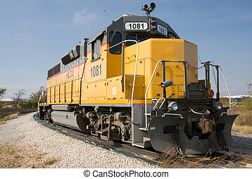 The Engine - This is a photo of a Railroad Diesel Engine...