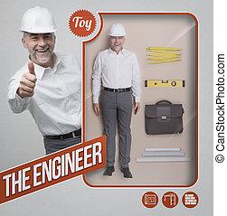 The engineer lifelike doll