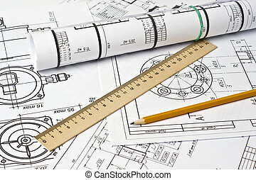 The engineering drawing