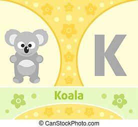 The English alphabet Koala