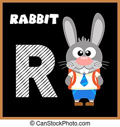 The English alphabet letter R