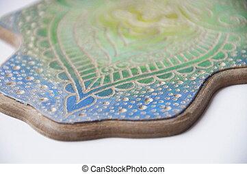 The engraved hamsa