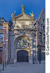 The entrance gate of Church of St Paul