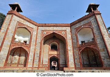 The entrance of Humayun Tomb, New Delhi, India