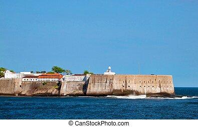 the entrance of rio de janeiro harbour