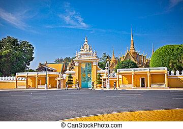 The entrance of Royal palace,  Phnom Penh, Cambodia.