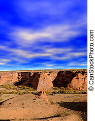 Canyon De Chelly - The entrance or beginning of the Canyon ...