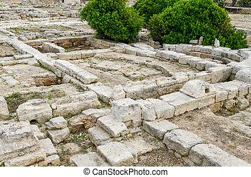 The episcopal Basilica of the ancient Roman ruins in Egnazia